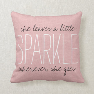 Rustic Pink Sparkle Cushion