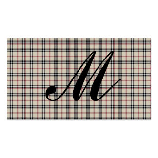 Rustic Plaid Business Card Template
