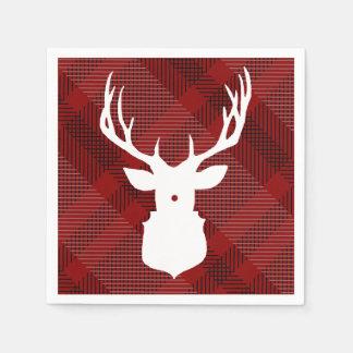 Rustic Plaid Deer | HOLIDAY NAPKINS Disposable Napkin