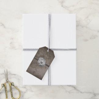 Rustic Plaid Flower Custom Gift Tag