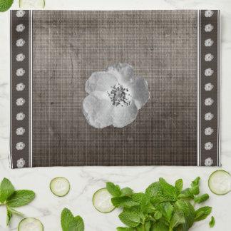Rustic Plaid Flower Kitchen Towel