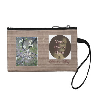 Rustic Plum Photo Customize Bride/Bridesmaid Bag Coin Purses
