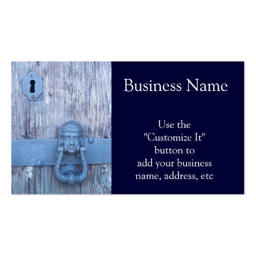 Rustic Port Entry Door Business Card Templates