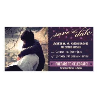 Rustic Poster: Aubergine Dream Save the Date Photo Cards