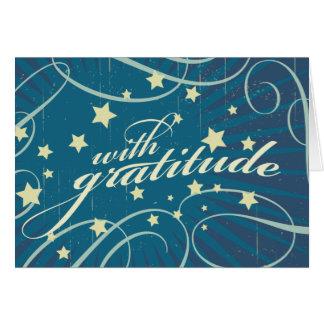 Rustic Poster: Aubergine Dream Swirls Thank You Card