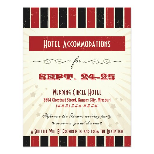 Rustic Poster: Red & Black Accommodation Personalized Announcement