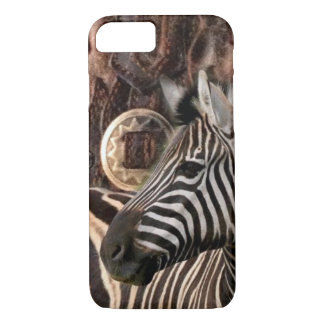 rustic Primitive Africa safari animal  zebra iPhone 8/7 Case
