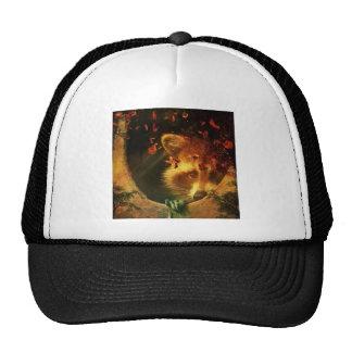 Rustic raccoon fall design cap