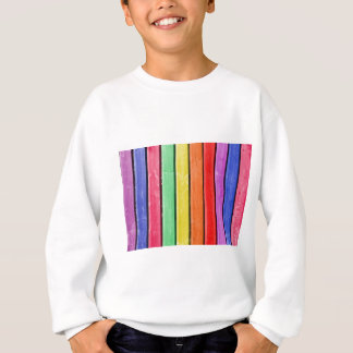 Rustic Rainbow Wood Stripes Sweatshirt