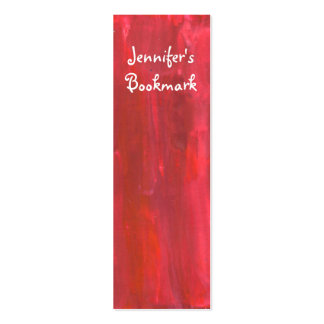 Rustic Red Abstract Bookmark Pack Of Skinny Business Cards