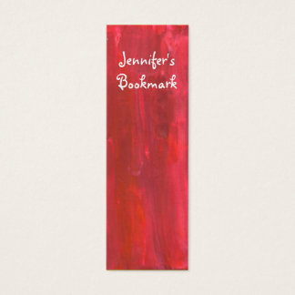 Rustic Red Abstract Bookmark Mini Business Card