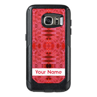 Rustic Red Abstract Design OtterBox Samsung Galaxy S7 Case