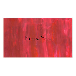 Rustic Red Abstract Pack Of Standard Business Cards