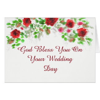 Rustic Red And White Country Wedding Card