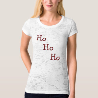 Rustic Red and White Striped Ho Ho Ho T-Shirt