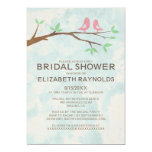 Rustic Red Bird Bridal Shower Invitations