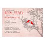 Rustic Red Birds Bridal Shower Invitations