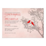 Rustic Red Birds Wedding Invitations