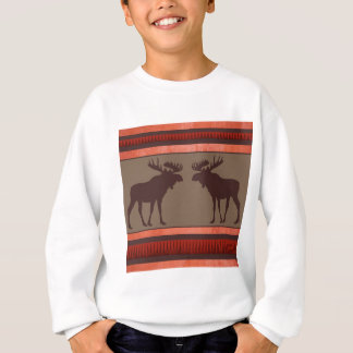 Rustic red brown moose pattern sweatshirt