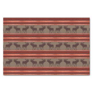 Rustic red brown moose pattern tissue paper