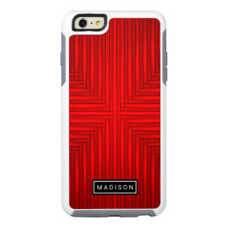 Rustic Red Cool Black Modern Colorful Striped OtterBox iPhone 6/6s Plus Case