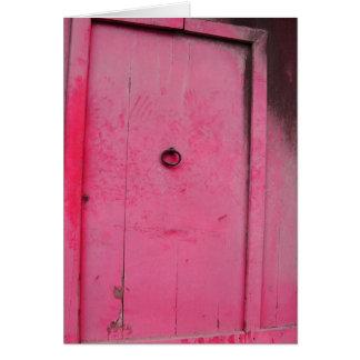 Rustic Red Door Card