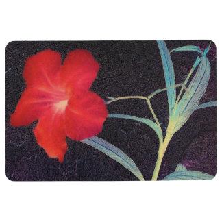 Rustic Red Flower Breeze Floor Mat