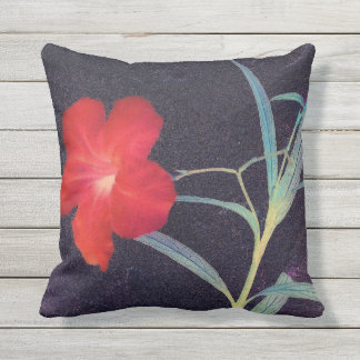 Rustic Red Flower Breeze Outdoor Cushion
