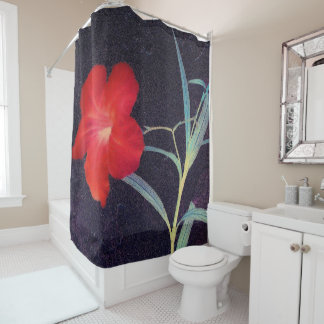 Rustic Red Flower Breeze Shower Curtain