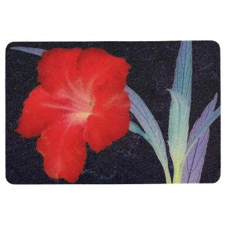 Rustic Red Flower Profile Floor Mat
