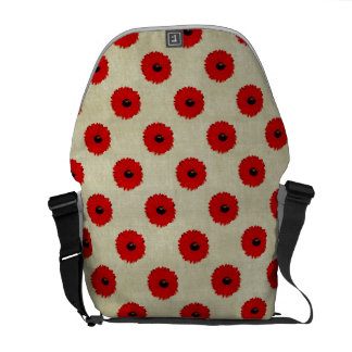 Rustic Red  Flowers Pattern Commuter Bags
