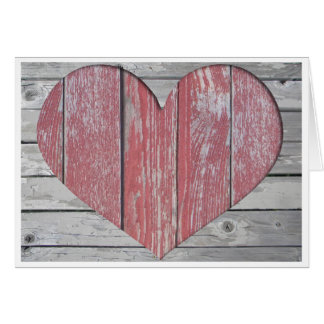 Rustic Red Heart Card