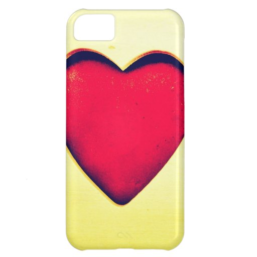 Rustic Red Heart Valentine's Day Love Case For iPhone 5C