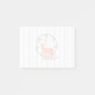 Rustic Reindeer Boho Watercolor Post-it Notes
