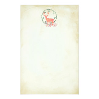 Rustic Reindeer Boho Watercolor Stationery