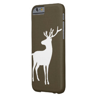 Rustic Reindeer & Faux Leather Barely There iPhone 6 Case