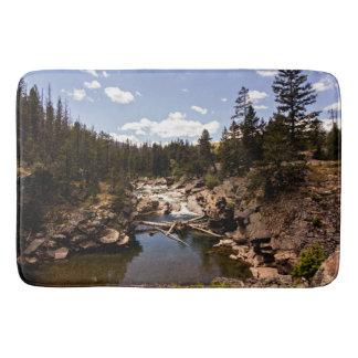 Rustic River Wilderness Scene Shower Mat
