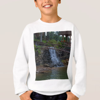 Rustic Rocky Waterfall On the Shoreline of Lake Sweatshirt