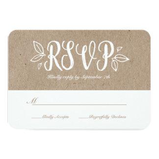 Rustic Romance RSVP Card