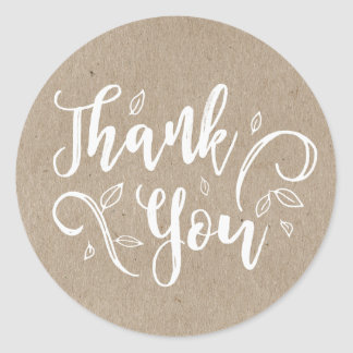 Rustic Romance Thank You Stickers