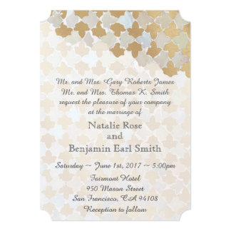 Rustic Romance Wedding | Faux Gold Foil Mosaic Card