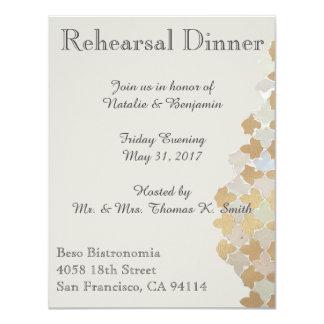 Rustic Romance Wedding | Rehearsal Dinner Invite