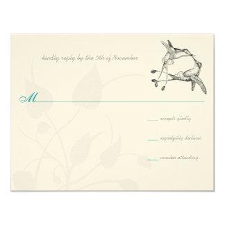 Rustic Romantic Hummingbird Kiss Love BirdWedding Card