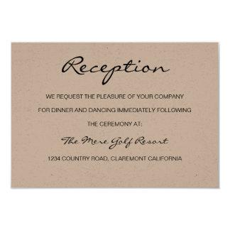 Rustic Romantic Reception or Accomodation Card 9 Cm X 13 Cm Invitation Card