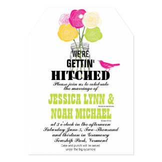 Rustic Romantic Rose Mason Jar Love Bird Invites