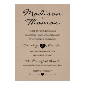 Rustic Romantic Suite wedding invitation