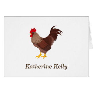 Rustic Rooster Country Note Note Card