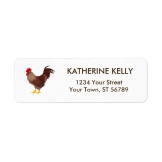 Rustic Rooster Return Address Label