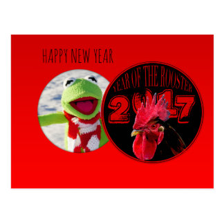 Rustic Rooster Year 2017 Add your image Postcard