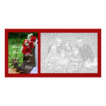 Rustic Roses Wedding Save the Date Photo Card